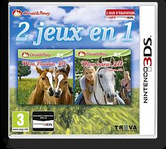 2 jeux in 1 Cheval & Poney: Mon Poulain 3D + Mon haras 3D - tous en selle pochette 3DS (BMFP)