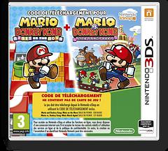 Mario & Donkey Kong: Mini's on the Move / Mario vs. Donkey Kong: Mini's March Again! pochette 3DS (V2GV)