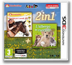 2 in 1 - Life with Horses 3D + My Baby Pet Hotel 3D 3DS cover (BMXP)