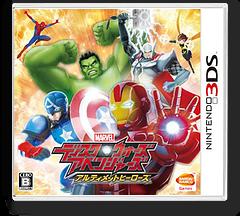 ディスク・ウォーズ:アベンジャーズ アルティメットヒーローズ 3DS cover (AVNJ)