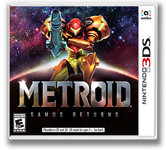 Metroid: Samus Returns 3DS cover (A9AE)
