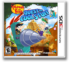 Phineas and Ferb - Quest for Cool Stuff 3DS cover (AAWE)