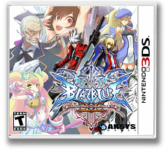 BlazBlue - Continuum Shift II 3DS cover (ABLZ)
