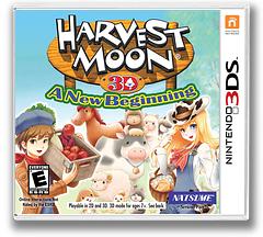 Harvest Moon 3D - A New Beginning 3DS cover (ABQE)