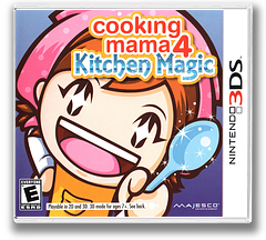 Cooking Mama 4 - Kitchen Magic 3DS cover (ACQE)