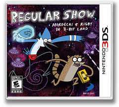 Regular Show - Mordecai and Rigby in 8-bit Land 3DS cover (AEBE)