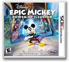 Disney Epic Mickey - Power of Illusion 3DS cover (AECE)