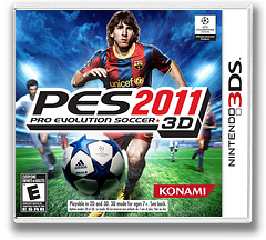 Pro Evolution Soccer 2011 3D 3DS cover (AEEE)