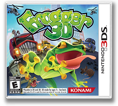 Frogger 3D 3DS cover (AFRE)