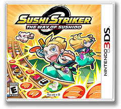 Sushi Striker: The Way of Sushido 3DS cover (AFWE)