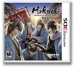 Hakuoki - Memories of the Shinsengumi 3DS cover (AH9E)