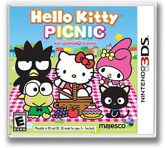 Hello Kitty Picnic with Sanrio Friends 3DS cover (AHLE)