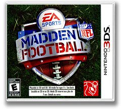 Madden NFL Football 3DS cover (AMDE)