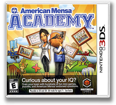 American Mensa Academy 3DS cover (AMME)