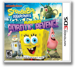 SpongeBob SquarePants - Plankton's Robotic Revenge 3DS cover (ANXE)