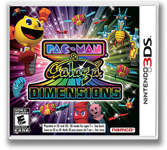 Pac-Man & Galaga Dimensions 3DS cover (APGE)