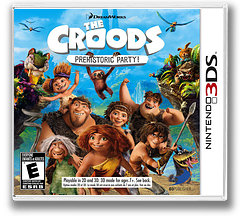 The Croods - Prehistoric Party! 3DS cover (AQRE)