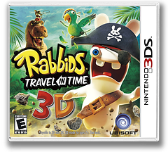 Rabbids - Travel in Time 3D 3DS cover (ARBE)