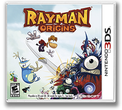Rayman Origins 3DS cover (ARME)