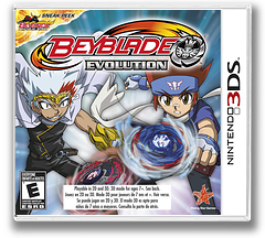Beyblade - Evolution 3DS cover (ARXE)