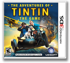 The Adventures of Tintin - The Game 3DS cover (ATNE)