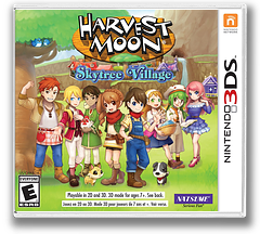 Harvest Moon: Skytree Village 3DS cover (AVAE)