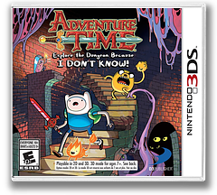 Adventure Time - Explore the Dungeon Because I DON'T KNOW! 3DS cover (AY9E)