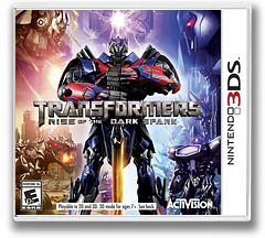 Transformers - Rise of the Dark Spark 3DS cover (AYEE)