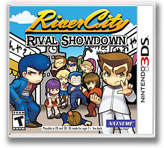 River City: Rival Showdown 3DS cover (BDJE)