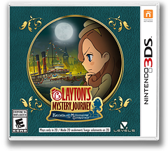 Layton's Mystery Journey: Katrielle and the Millionaires' Conspiracy 3DS cover (BLFE)