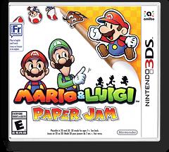 Mario & Luigi - Paper Jam 3DS cover (AYNE)