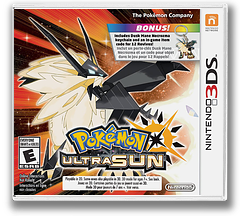 Pokémon Ultra Sun 3DS cover (A2AE)