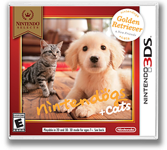 Nintendogs + Cats - Golden Retriever & New Friends 3DS cover (ADAE)