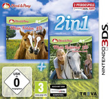 2 in 1 Pferd & Pony: Mein Fohlen 3D + Mein Reiterhof 3D - Rivalen im Sattel  3DS cover (BMFP)