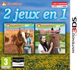 2 in 1 - Horses 3D Vol. 3 - My Riding Stables 3D - Jumping for the Team and My Western Horse 3D pochette 3DS (BM2P)