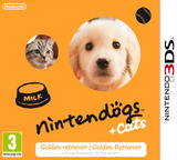 Nintendogs + Cats - Golden Retriever & New Friends 3DS cover (ADAP)