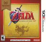 The Legend of Zelda - Ocarina of Time 3D 3DS cover (AQEE)