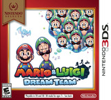 Mario & Luigi - Dream Team 3DS cover (AYME)