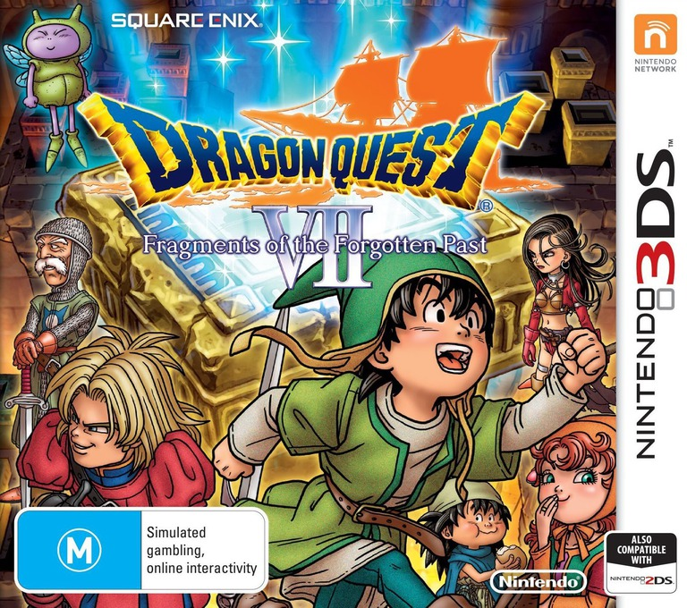 Dragon Quest VII: Fragments of the Forgotten Past 3DS coverHQ (AD7P)