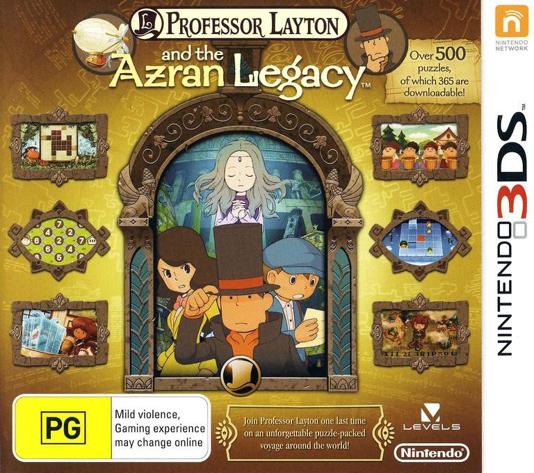 Professor Layton and the Azran Legacy 3DS coverHQ (AL6P)