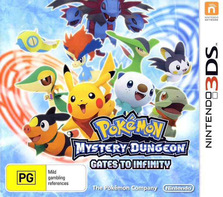 Pokémon Mystery Dungeon - Gates to Infinity 3DS coverHQ (APDP)