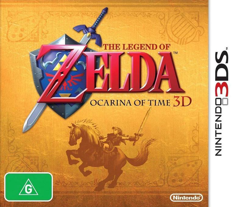 The Legend of Zelda - Ocarina of Time 3D 3DS coverHQ (AQEP)