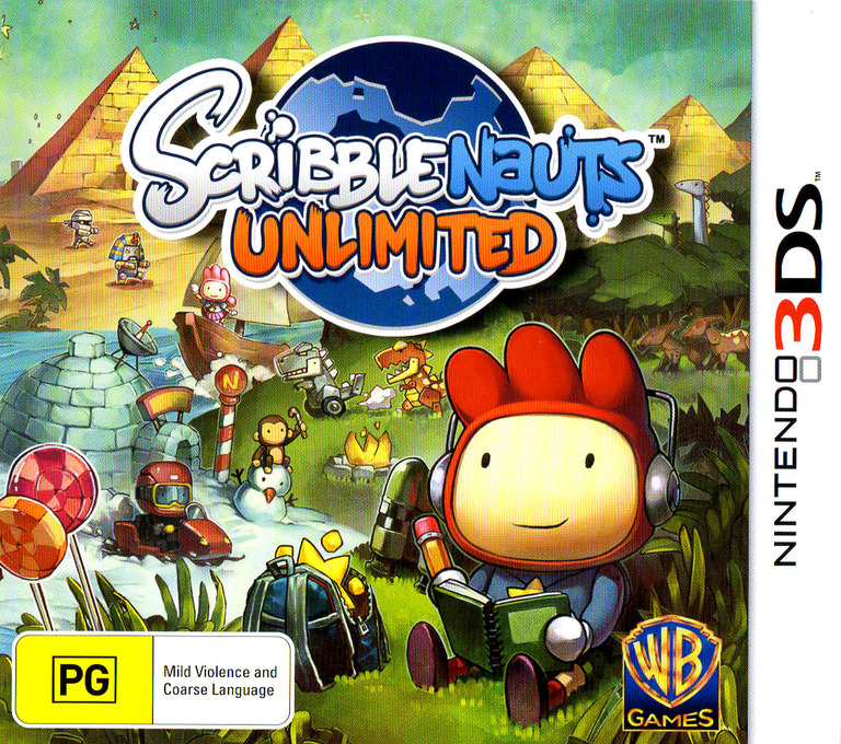 Scribblenauts Unlimited 3DS coverHQ (ASLX)