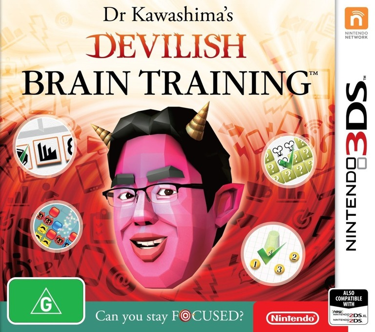 Dr Kawashima's Devilish Brain Training: Can you stay focused? 3DS coverHQ (ASRP)