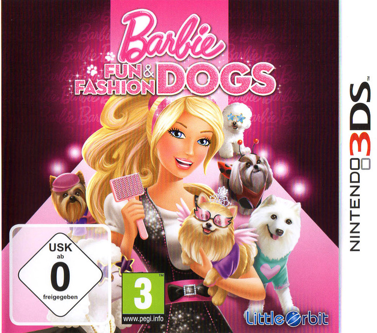 Barbie - Fun & Fashion Dogs 3DS coverHQ (ABYP)