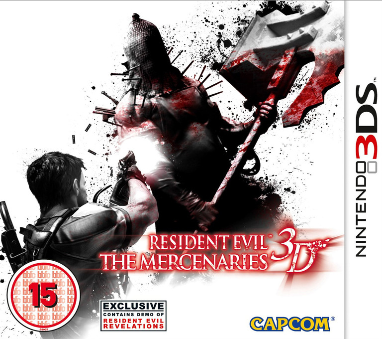 Resident Evil - The Mercenaries 3D 3DS coverHQ (ABMP)