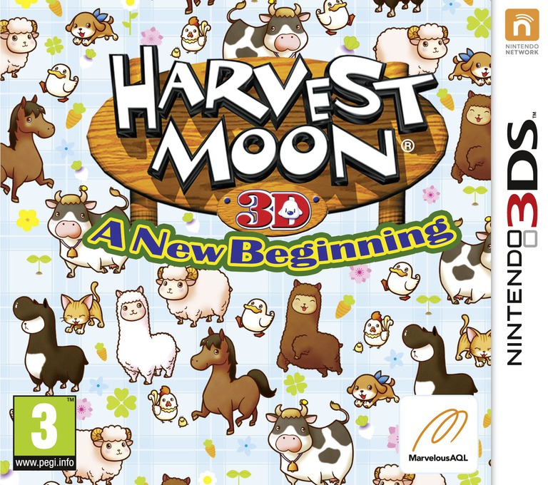 Harvest Moon 3D - A New Beginning 3DS coverHQ (ABQP)