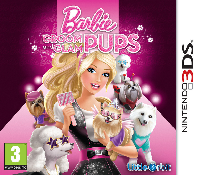 Barbie - Groom & Glam Pups 3DS coverHQ (ABYP)