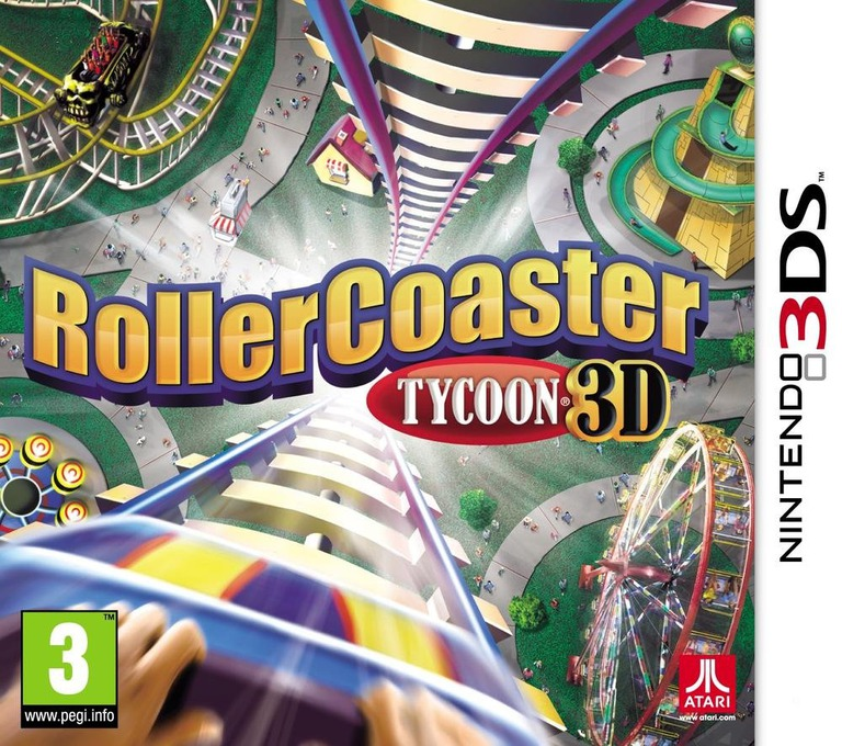 RollerCoaster Tycoon 3D 3DS coverHQ (AC8P)