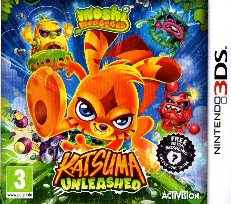 Moshi Monsters - Katsuma Unleashed 3DS coverHQ (ADMP)